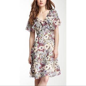 Calypso St Barth Faith Silk Floral Ruffle Dress
